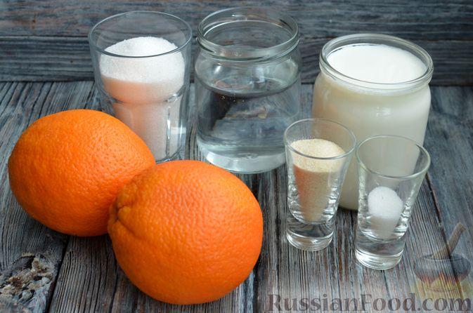 Фото приготовления рецепта: Молочно-апельсиновое желе - шаг №1