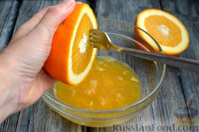 Фото приготовления рецепта: Молочно-апельсиновое желе - шаг №4