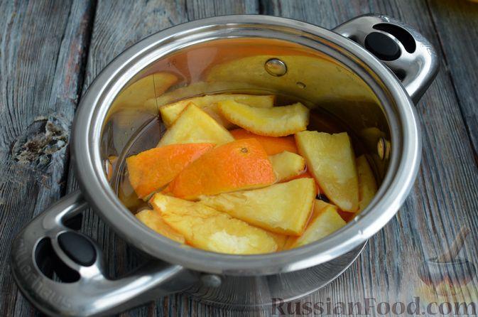 Фото приготовления рецепта: Молочно-апельсиновое желе - шаг №6