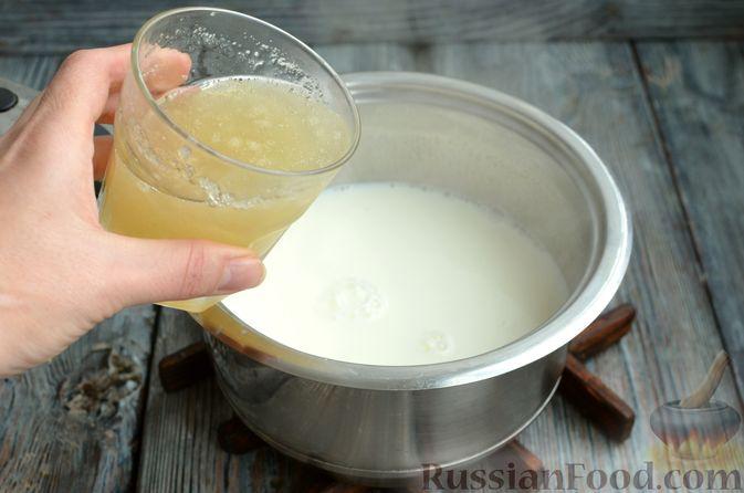 Фото приготовления рецепта: Молочно-апельсиновое желе - шаг №8