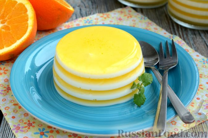Фото приготовления рецепта: Молочно-апельсиновое желе - шаг №16