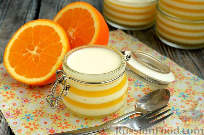 Фото приготовления рецепта: Молочно-апельсиновое желе - шаг №17
