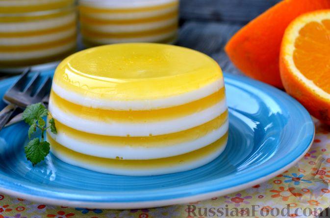 Фото приготовления рецепта: Молочно-апельсиновое желе - шаг №19