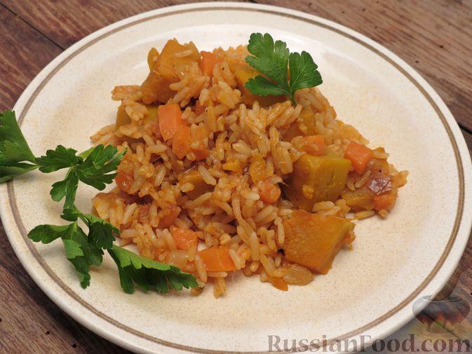 Фото к рецепту: Рис с тыквой (на сковороде)