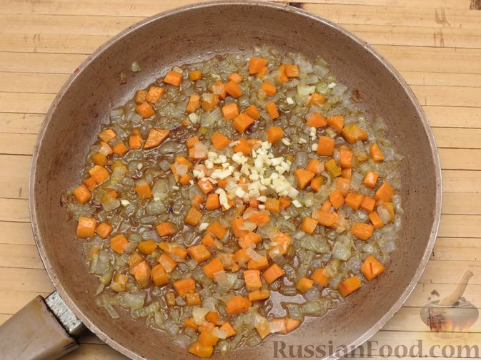 Фото приготовления рецепта: Рис с тыквой (на сковороде) - шаг №8