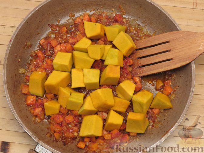 Фото приготовления рецепта: Рис с тыквой (на сковороде) - шаг №10