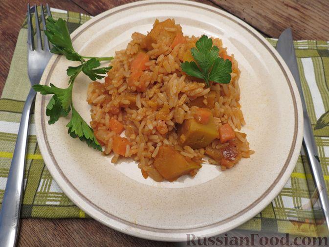 Фото приготовления рецепта: Рис с тыквой (на сковороде) - шаг №13