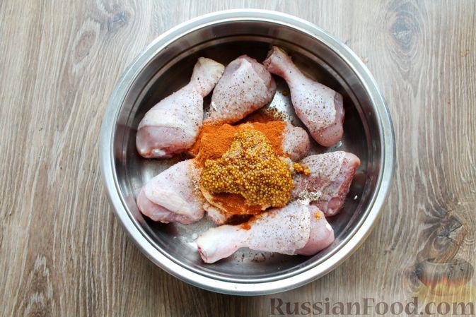 Фото приготовления рецепта: Куриные ножки в сметане и французской горчице, запечённые в духовке - шаг №6