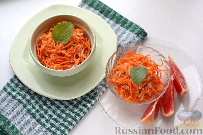 Фото приготовления рецепта: Морковно-яблочный салат с апельсиновым соусом - шаг №8