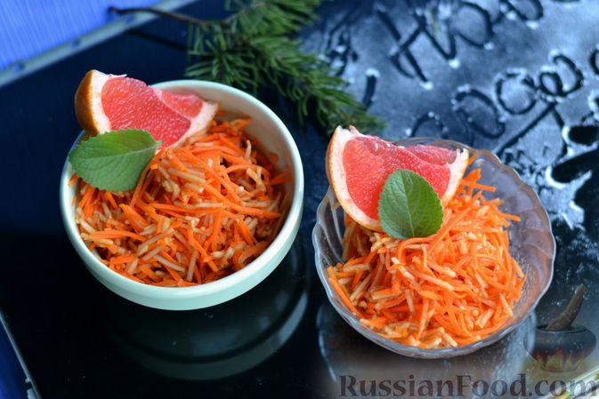 Фото приготовления рецепта: Морковно-яблочный салат с апельсиновым соусом - шаг №9