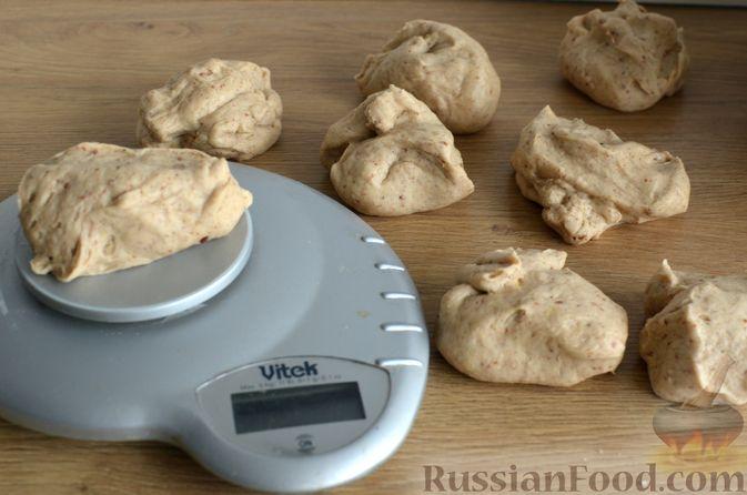Фото приготовления рецепта: Булочки с цельнозерновой и льняной мукой - шаг №12