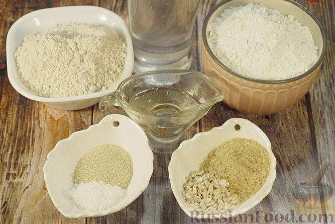 Фото приготовления рецепта: Пшенично-овсяный хлеб - шаг №1