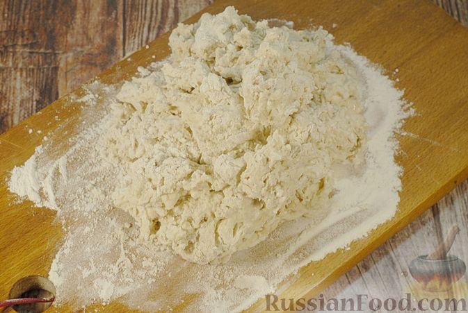 Фото приготовления рецепта: Пшенично-овсяный хлеб - шаг №4