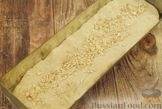 Фото приготовления рецепта: Пшенично-овсяный хлеб - шаг №9
