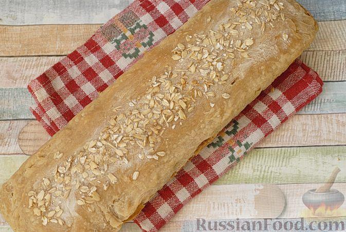 Фото приготовления рецепта: Пшенично-овсяный хлеб - шаг №10