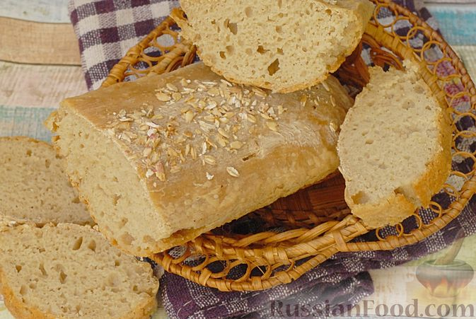 Фото приготовления рецепта: Пшенично-овсяный хлеб - шаг №11