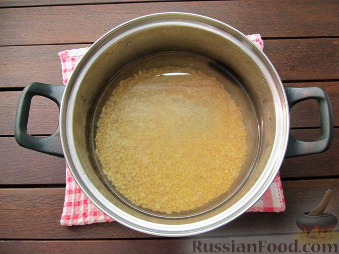 Фото приготовления рецепта: Свиная грудинка, запечённая с перловой крупой - шаг №2