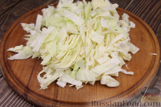 Фото приготовления рецепта: Капуста с луком и чесноком, тушенная в рукаве - шаг №2
