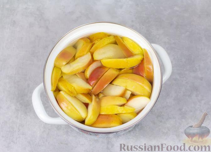 Фото приготовления рецепта: Яблочный кисель - шаг №3