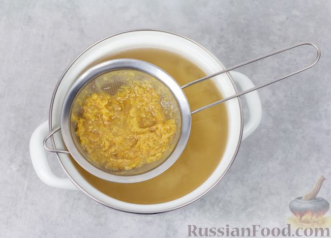 Фото приготовления рецепта: Яблочный кисель - шаг №5