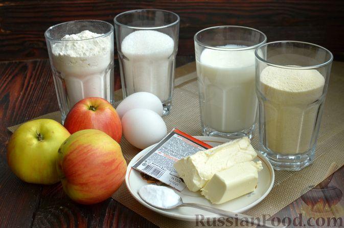 Фото приготовления рецепта: Манник на кефире, с яблоками - шаг №1