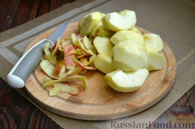 Фото приготовления рецепта: Манник на кефире, с яблоками - шаг №3