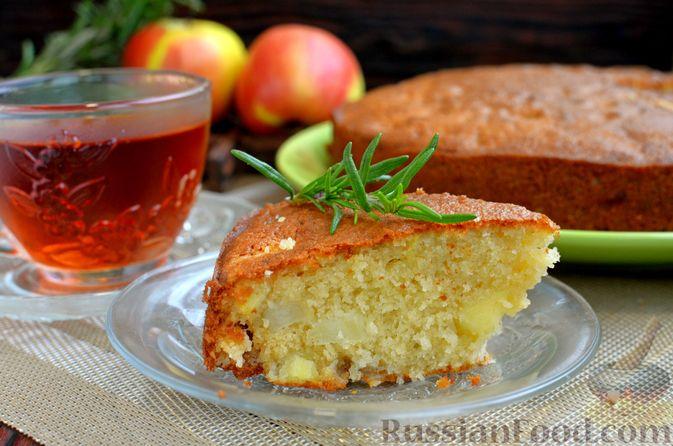 Фото приготовления рецепта: Манник на кефире, с яблоками - шаг №13