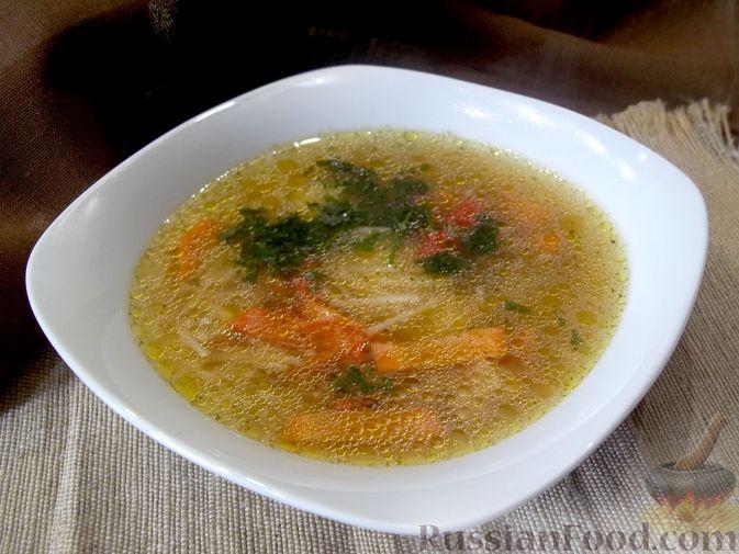 Фото приготовления рецепта: Куриный суп с квасом и вермишелью - шаг №20