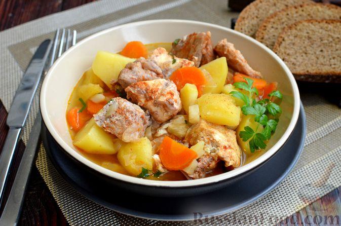 """Фото к рецепту: Густой немецкий суп """"Пихельштайнер"""" из свинины, говядины и курицы"""