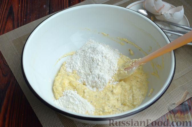 Фото приготовления рецепта: Творожный рулет с оливками и вялеными помидорами - шаг №3