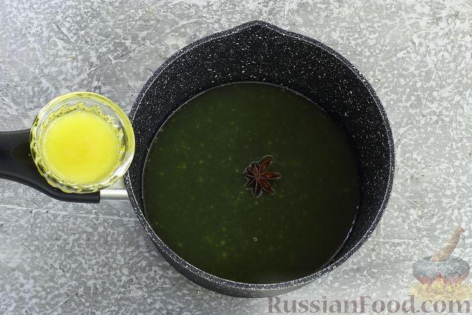 Фото приготовления рецепта: Гречневая каша с курагой, имбирными цукатами и апельсиновым соусом - шаг №11