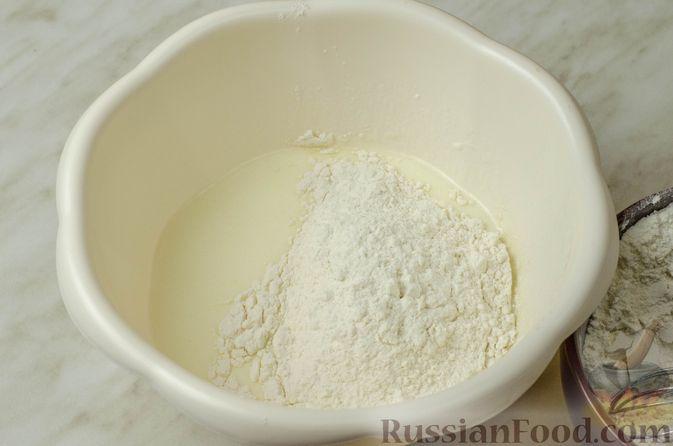 Фото приготовления рецепта: Запеканка-пирог из куриного филе с плавленым сыром - шаг №5