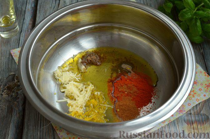 Фото приготовления рецепта: Запечённая форель с соусом из авокадо и базилика - шаг №4