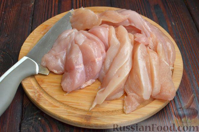 Фото приготовления рецепта: Курица в  сливочно-лимонном соусе - шаг №2