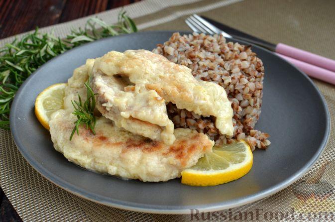 Фото приготовления рецепта: Курица в  сливочно-лимонном соусе - шаг №16