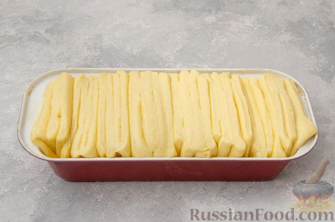 Фото приготовления рецепта: Отрывной сладкий хлеб с сахарной корочкой - шаг №19