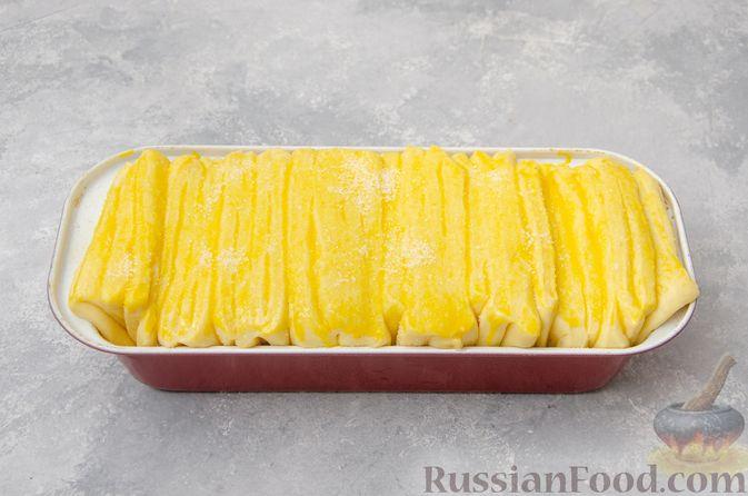 Фото приготовления рецепта: Отрывной сладкий хлеб с сахарной корочкой - шаг №20