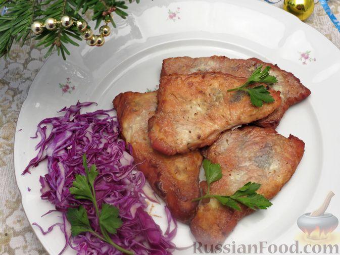 Фото приготовления рецепта: Отбивные из индейки, запечённые со сметаной - шаг №7