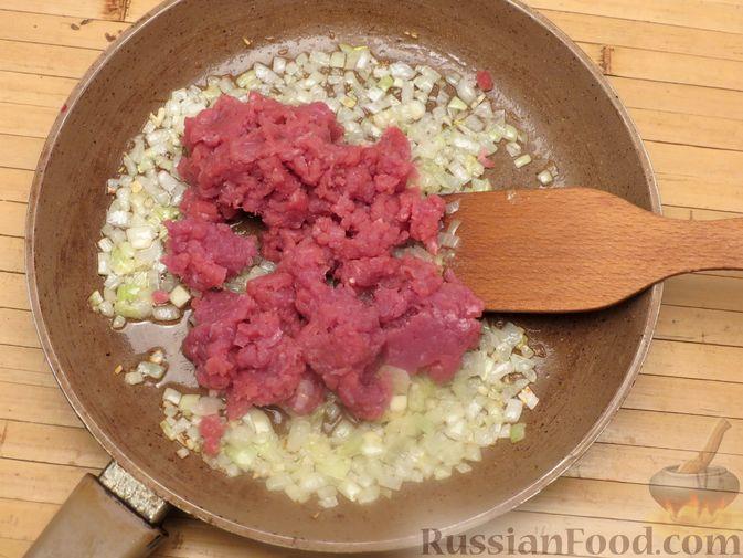 Фото приготовления рецепта: Макароны по-флотски с мясным фаршем (в духовке) - шаг №5