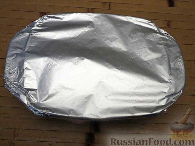Фото приготовления рецепта: Макароны по-флотски с мясным фаршем (в духовке) - шаг №11