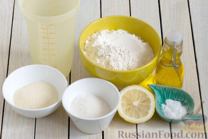 Фото приготовления рецепта: Постные блинчики с манной крупой - шаг №1