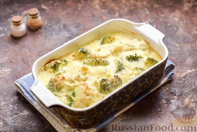Фото приготовления рецепта: Минтай, запечённый с брокколи - шаг №8