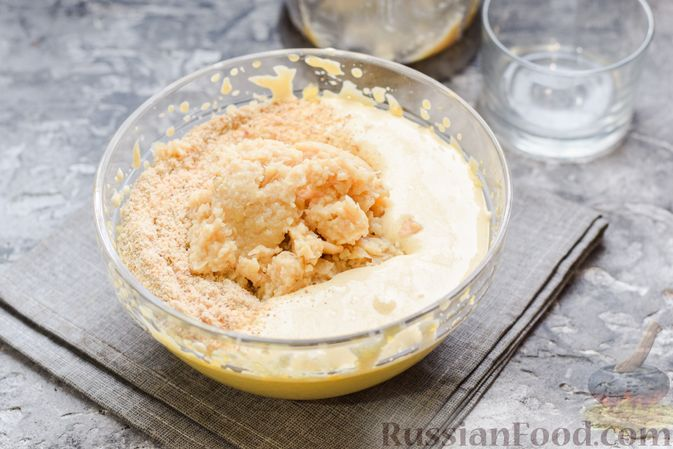 Фото приготовления рецепта: Сладкий пирог из белой фасоли - шаг №9