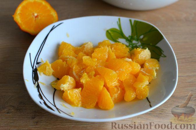 Фото приготовления рецепта: Творожные дрожжевые пирожки с апельсинами - шаг №10