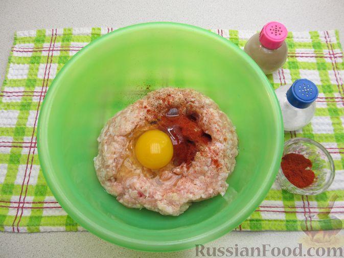 Фото приготовления рецепта: Куриные зразы с морковно-луковой начинкой - шаг №8