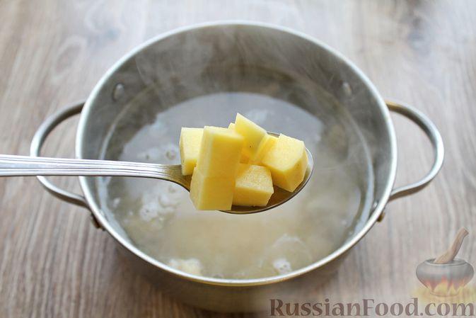 Фото приготовления рецепта: Суп с говядиной и булгуром - шаг №6