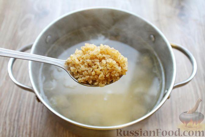 Фото приготовления рецепта: Суп с говядиной и булгуром - шаг №7