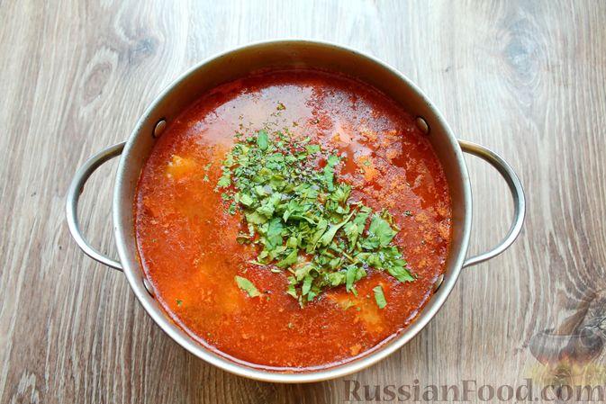 Фото приготовления рецепта: Суп с говядиной и булгуром - шаг №10