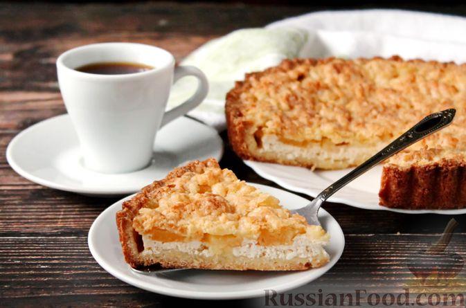 Фото приготовления рецепта: Песочный тарт с творогом и ананасами - шаг №14