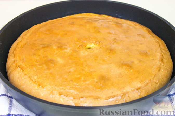 Фото приготовления рецепта: Пирог с картошкой - шаг №10